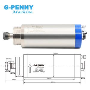 Image 2 - CNC Wood working 220v ER20 3.2kw Water cooled spindle 3kw spindle motor water cooling engraving spindle for woodworking machine