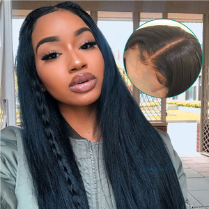 Image 5 - עלי גרייס שיער ברזילאי ישר שיער 4x4 סגר עם חבילות שיער טבעי 100% רמי ישר חבילות עם סגירת אמצע חלק