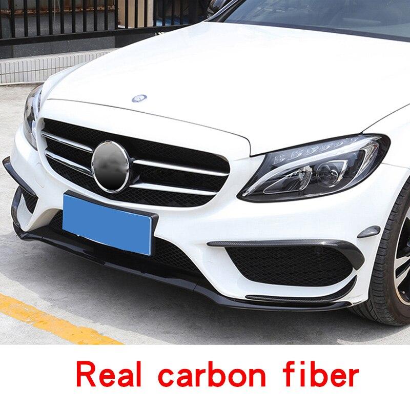 Front rear fog  For mercedes w205 amg Mercedes c class accessories carbon fiber benz c63 exterior