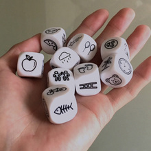 9 pcs Dice Telling Story with Bag Story Dice Game English Instructions Family/Parents/Party Funny Imagine Magic Toys basic action story dice puzzle board game telling story family party friends parents with children
