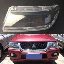Farol de carro com lentes para mitsubishi sport pajero, substituição de capa automotiva