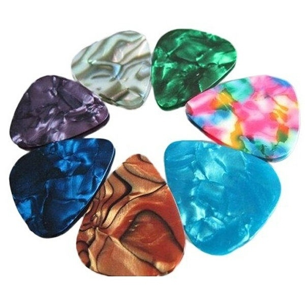 10/20 Pcs New Acoustic Picks Plectrum Celluloid Electric Smooth Guitar Pick Accessories 0.46mm 0.71mm 0.96mm ED889