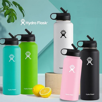 Hydro Flask Straw Lid Vsco Water Bottle Stainless Steel Insulated Water Bottle 18oz/32oz/40oz Hydro Flask Sports Water Bottle