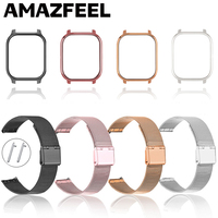 Capa de relógio em metal para xiaomi amazfit gts, filme protetor de pulseira do smartwatch bip lite bip s gts 2