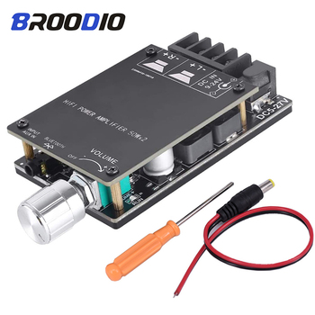 TPA3116 Bluetooth 5.0 Amplifier Board Dual Channel 2*50W Mini Stereo Audio Receiver High Power Digital 3.5mm AUX HIFI Amplifier tpa3116 2 100w bluetooth digital power amplifier board dual channel digital audio amplifier board module 2 2 0 super bass amp