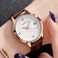 Женские кожаные часы SANDA  водонепроницаемые кварцевые часы с цветком  relogio feminino Montre Femme  2019