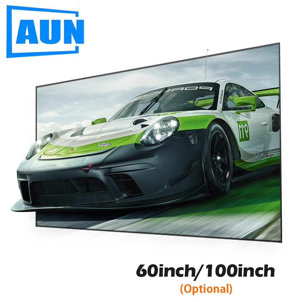 AUN Projector-Screen Fabric Reflective Home Theater 60/100inch Anti-Light for 16:9 C80