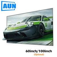 AUN анти-легкий проектор экран 16:9 отражающая ткань 60/100 дюймов для домашнего кинотеатра, ALR экран для мини-проектор светодиодный/DLP C80
