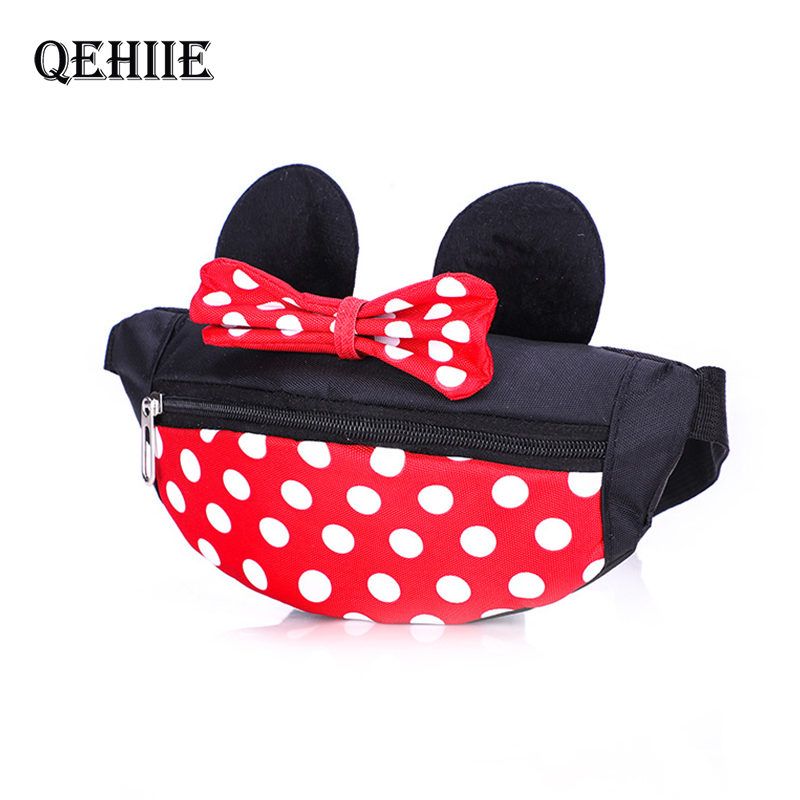 Cute Children Cartoon Waist Packs Mickey Mini Lovely Coin Purse Baby Storage Packet Boys And Girls Handbag Messenger Bag Wallet