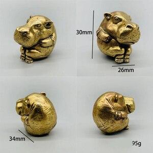 Image 5 - DIY sevimli hayvan mefruşat ürünleri kolye Vintage pirinç araba dinozorlar Hippo DIY aksesuarları