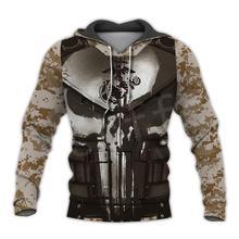 Tessffel America Marine Camo Skull Soldier Army Tracksuit NewFashion Pullover 3DPrint Unisex Zip/Hoodies/Sweatshirts/Jacket  A-7