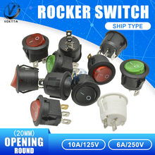 5 Buah 20 Mm Saklar Power Switch On-Off/On-Off-On 2/3 Posisi 2 /3/4Pin 6A 250V Boart Switch Snap-In Tahan Air Cap(China)