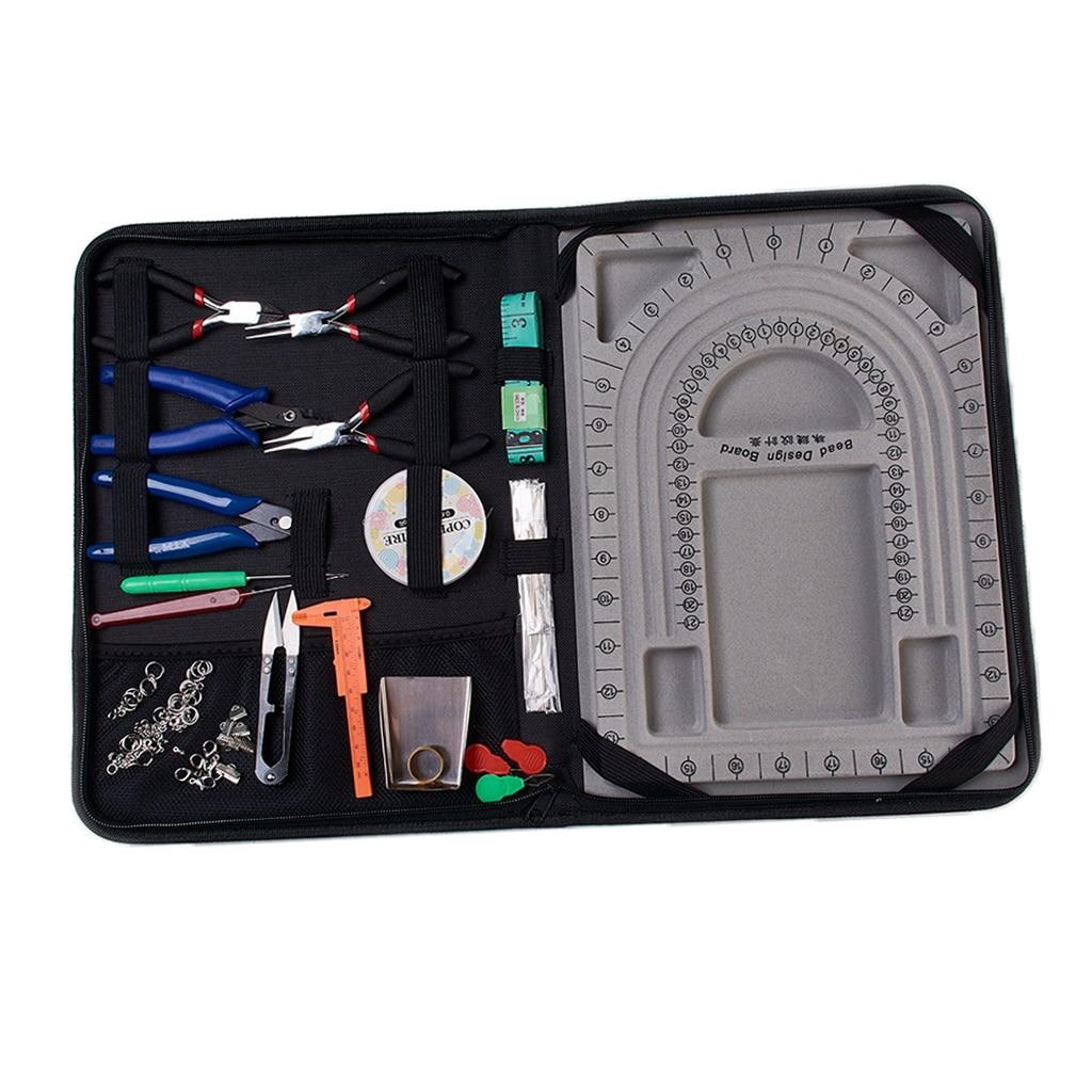 Fournitures de fabrication de bijoux/Kit d'outils de réparation pinces perles ensemble de résultats de bijoux