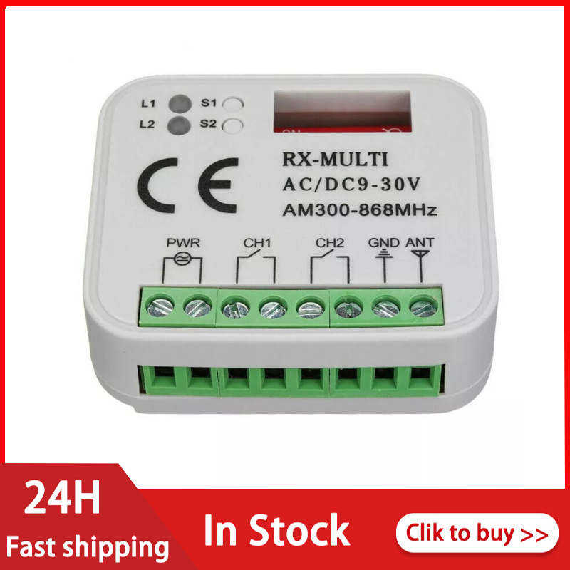 Приемник переключателя дистанционного управления 433 МГц 868 МГц 390 МГц RX многочастотный приемник 9 30 В переменного/постоянного тока 300 868 МГц приемник гаражных ворот Пульты ДУ      АлиЭкспресс