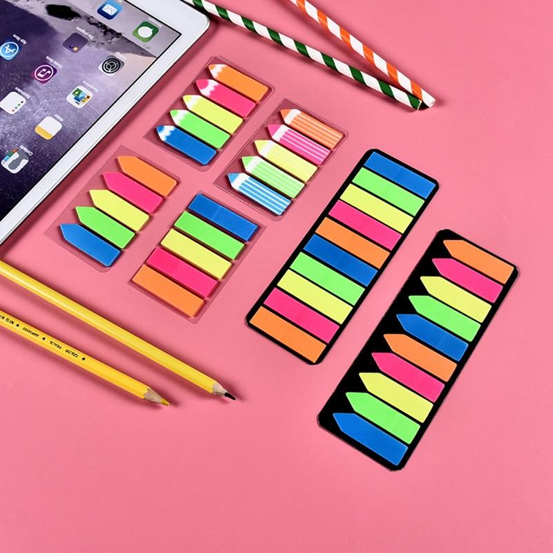 1 компл. Цветной блокнот для записей симпатичная клейкая бумага для записей заметки школьные офисные принадлежности