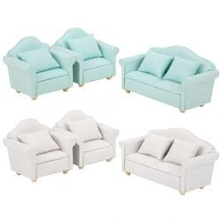 3 шт. 1:12 мини кукольный дом ткани диванную подушку набор кукольная мебель куклы номер Декор плед диван дети игровой домик игрушки