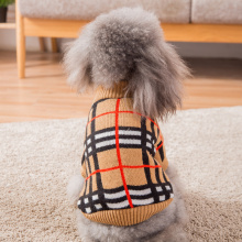 Hipidog Free Shipping Brand Knitted Winter Pet Sweater for Dog and Cat Luxury Plaid