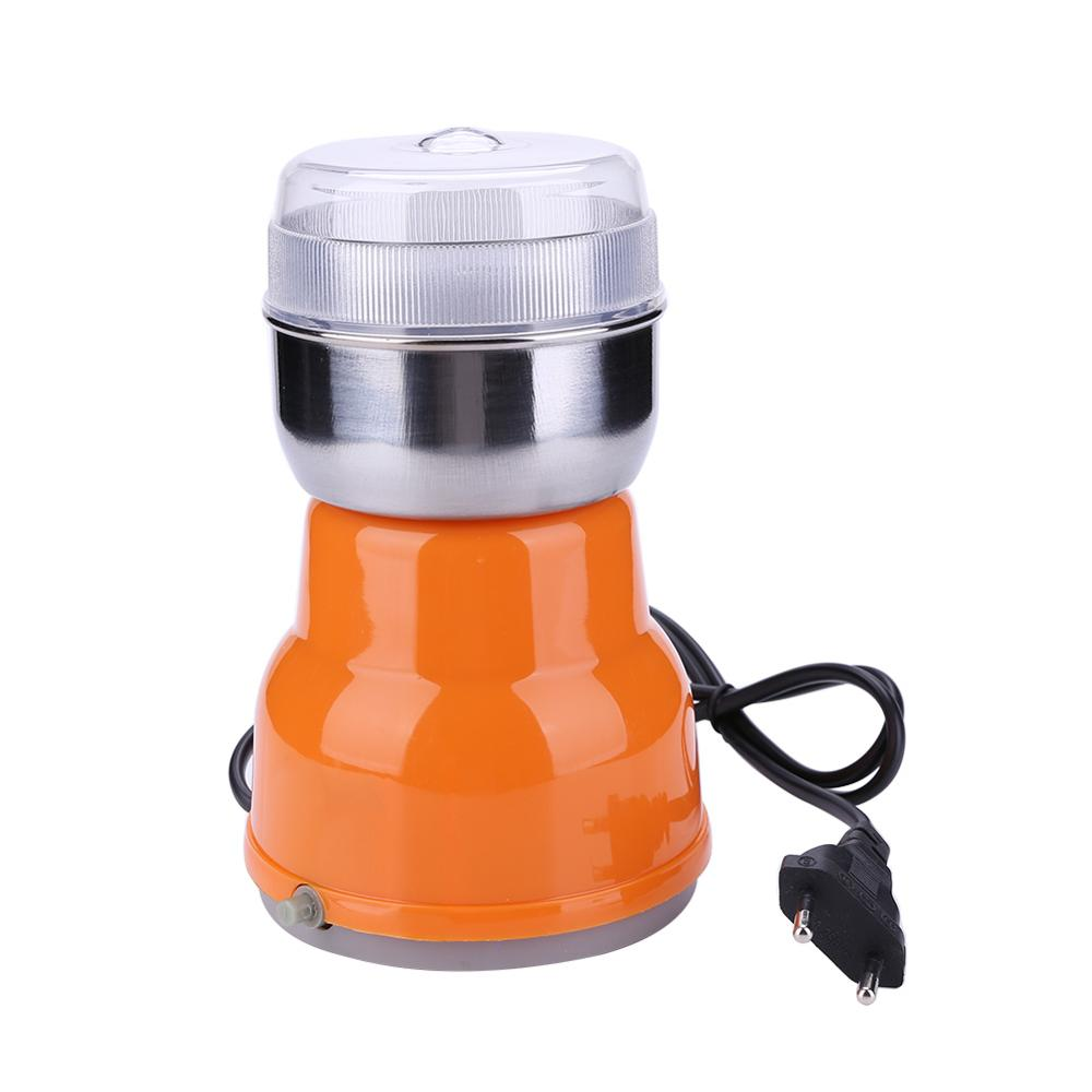 220V Electric Coffee Grinder Electric Stainless Steel Herbs Spices Nuts Grains Coffee Bean Grinder Machine For Home Outdoor Hot