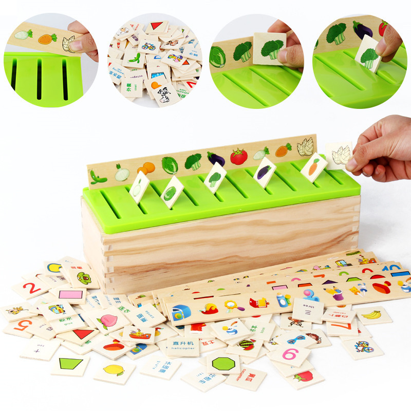 Mathematical Montessori Early Educational Wooden Box Toy For Children Preschool Alphabet Math Car Abacus Learning Baby Kids Toy