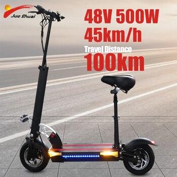 Patinete eléctrico de dos ruedas para adulto, Scooter Eléctrico de 500W, velocidad rápida plegable, 45 km/h, envío gratis