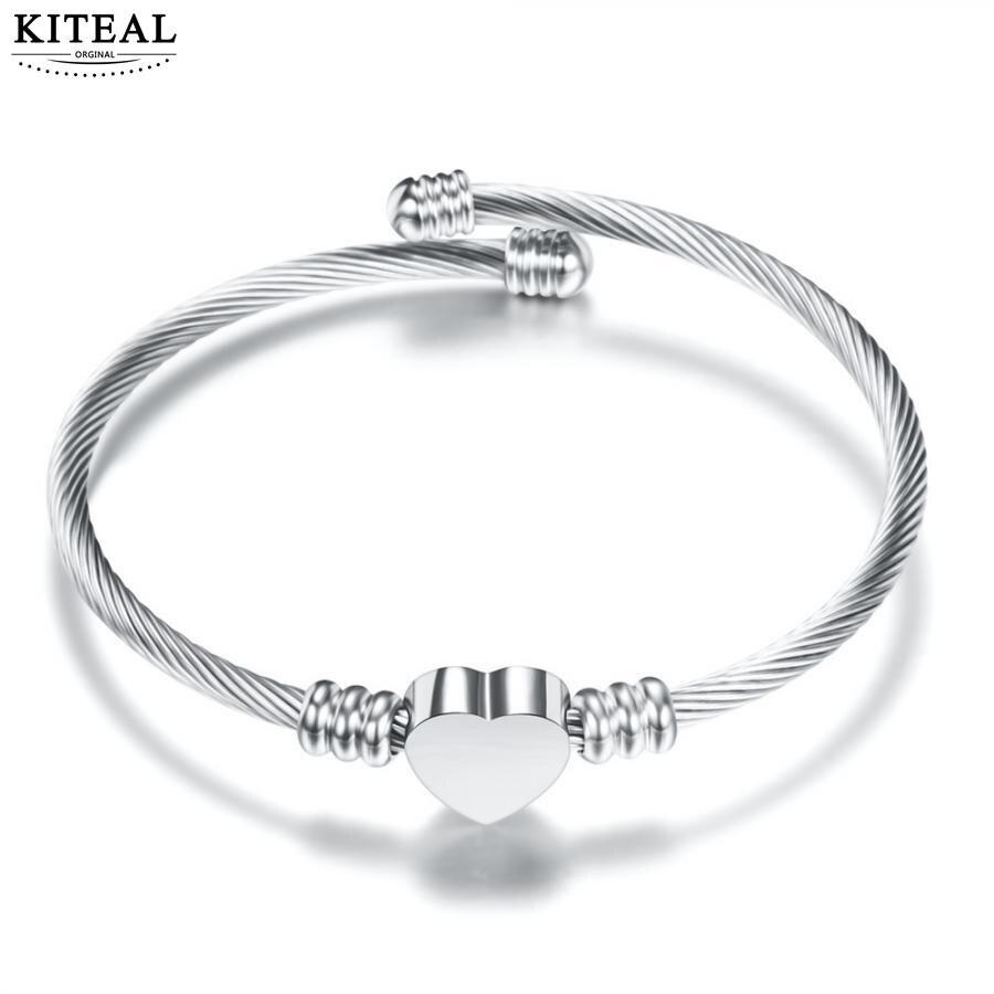 KITEAL Mode Design 18KGP Gold Gefüllt freundschaft armreif für frauen Geflochtene Herz armband Engagement Schmuck Zubehör