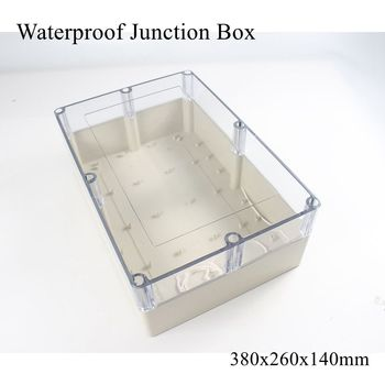380x260x140mm Waterproof Plastic Enclosure Box Outdoor Cable Connection Junction Electrical Project Case ABS IP65 380*260*140mm
