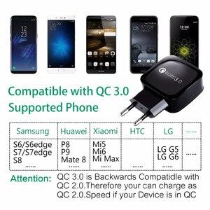 Image 2 - Novo QC 3.0Hz 50 60 USB móvel carregador Rápido de carga rápida Para iPhone Samsung Huawei Xiaomi HTC LG carregador Do Telefone móvel