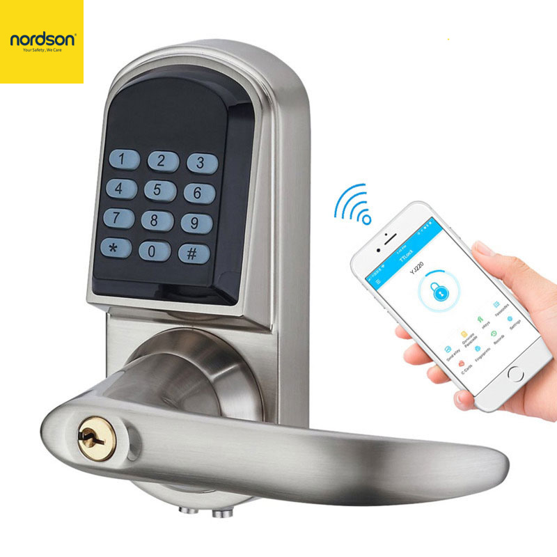 Nordson Original Smart Bluetooth Door Lock Easy Install Access Control Digital Keypad Password RFID Lock Home Apartment Office image
