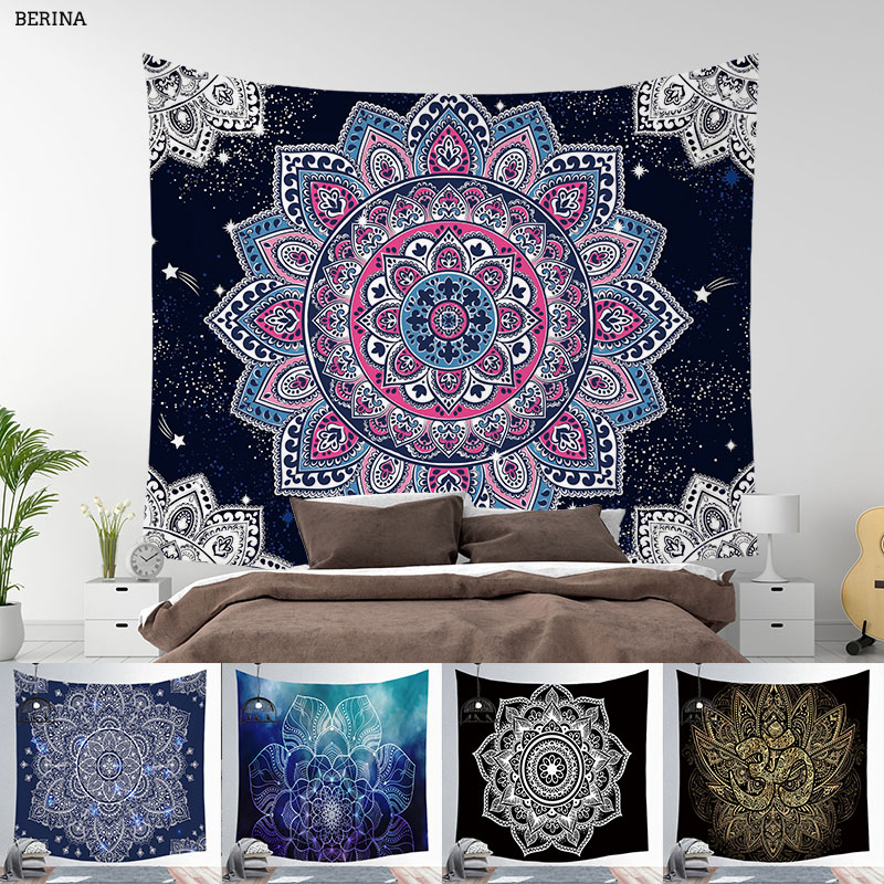 Wall Hanging Mandala Tapestry Esoterics Witchcraft Bedroom Living Room Boho Decor Polyester Hippie Chakra Tapestries 95*73cm