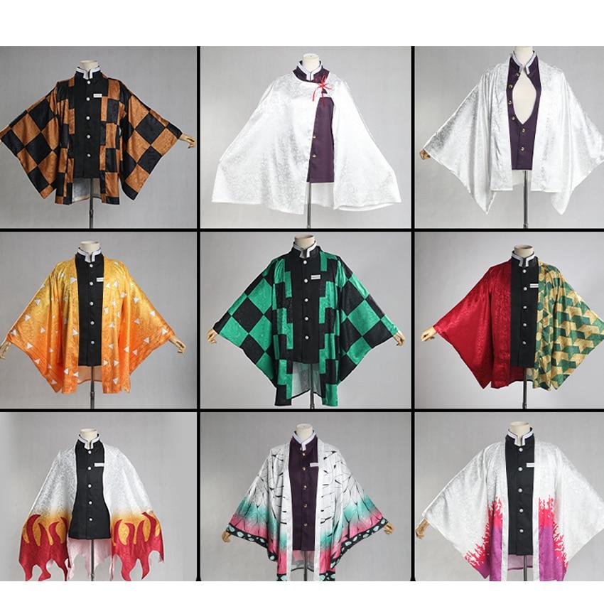 Костюм для косплея «Клинок-демонов», кимоно Rengoku Kyoujurou Kanroji Mitsuri Agatsuma Zenitsu, мужская и женская куртка, хаори