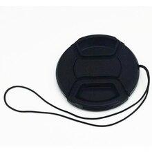 Универсальный объектив камеры водонепроницаемый пылезащитный с струной портативный Центр Pinch cap прочные аксессуары Крышка для Nikon
