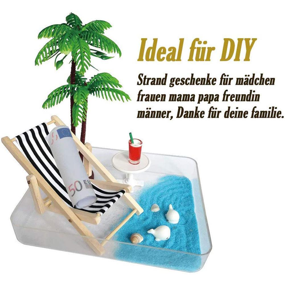 Beach Micro Landscape Mini Chair Beach Set Miniature Ornaments Set For House Decoration Great Birthday Gift Simulation Decor