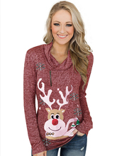 Merry Christmas Women's Autumn Winter Snowflake Pr
