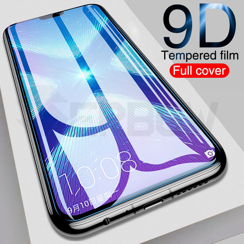 9D Full Cover Protective Glass For Honor 8X 8A 8C 8S 20i 10i 9i 9X Tempered Screen Protector Honor 10 20 Lite V20 V10 Glass Film