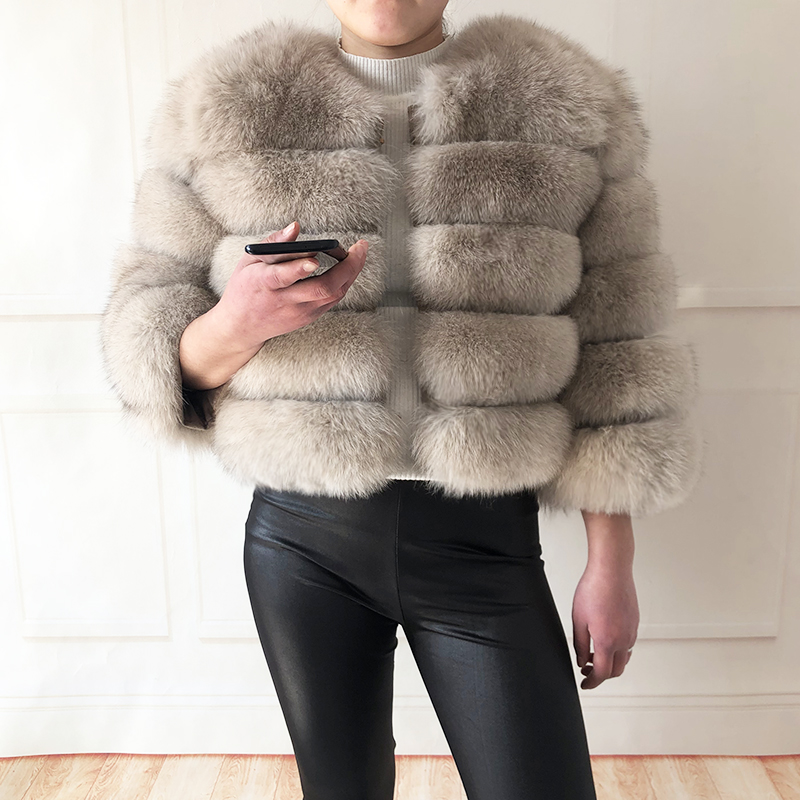 2019 new style real fur coat 100% natural fur jacket female winter warm leather fox fur coat high quality fur vest Free shipping 137