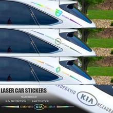 1 шт., разноцветное светоотражающее средства ухода за кожей окна лазерная наклейка винил Водонепроницаемый украшения Наклейка для Hyundai Skoda ...
