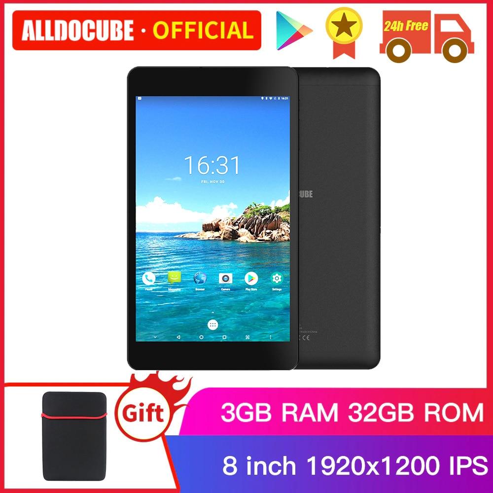 Alldocube M8 MTK X27 10 Core 8 Inch 4G LTE Wi-Fi Tablets PC Android 8.0 Oreo Ram 3GB ROM 32GB 1920*1200 IPS Dual SIM Ultra Slim
