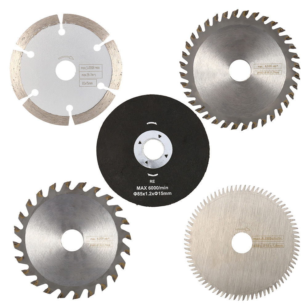 5pcs 85mm Cutting Tool Saw Blades For Power Tool Circular Saw Blade For Wood HSS Saw Blade Dremel Cutter Circular Mini Saw Blade