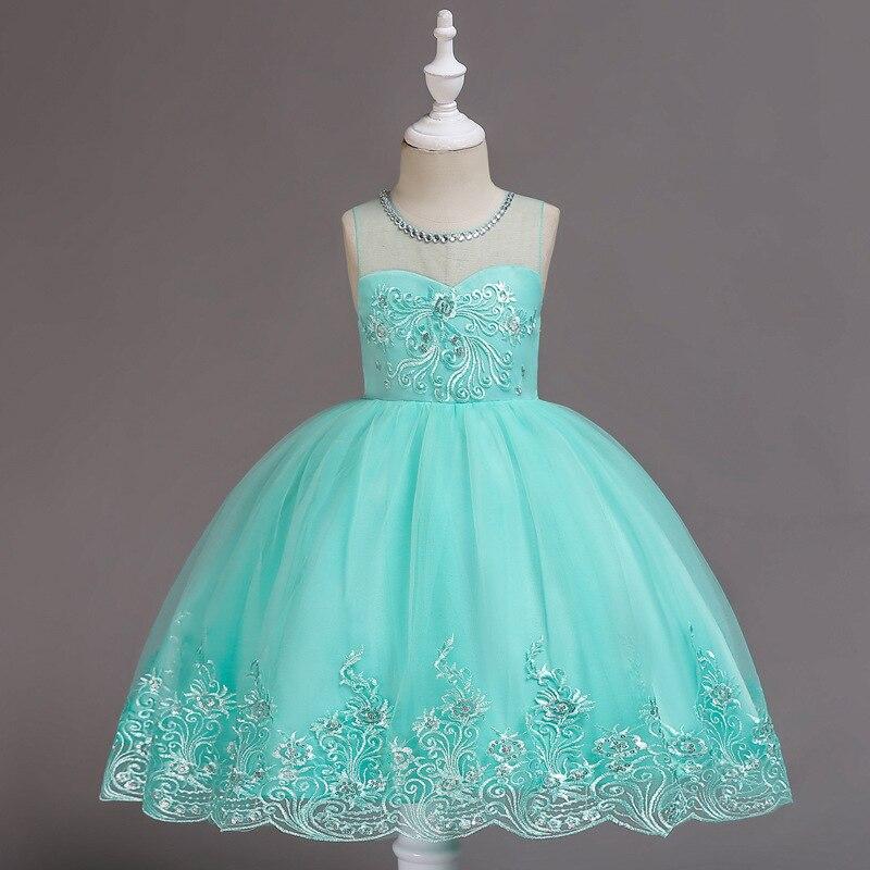 CHILDREN'S Dress Princess Dress Girls Wedding Dress Tutu Childrenswear Children Gauze Costume Small Host