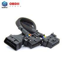 Haute qualité OBD2 câble dextension OBD 16pin mâle à femelle pour ELM 327 V1.5 pour VAG Auto voiture outil de Diagnostic Scanner pour OP COM