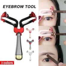 Hot Portable Eyebrow Stencil Reusable Adjustable Eyebrow Stencil Eye Brow Makeup Model Template Makeup Styling Tools недорого