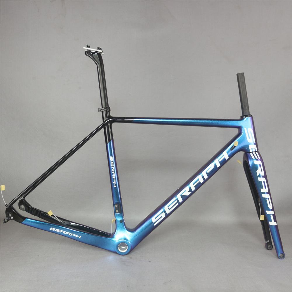 Seraph Custom Chameleon Paint BSA And BB30 Toray Carbon Fiber T700 Gravel Bike Frame GR029