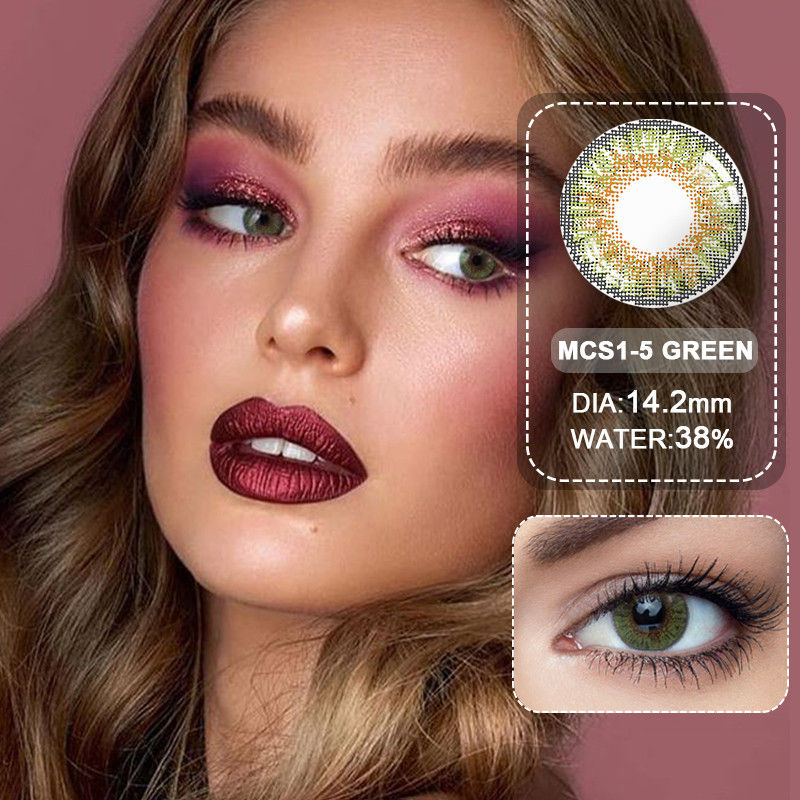 (Wholesale) Colored Contacts/Circle Lenses 2pcs/Pair Contact Lenses For Eyes Non Prescription Color Contact Lens With Free Case 3