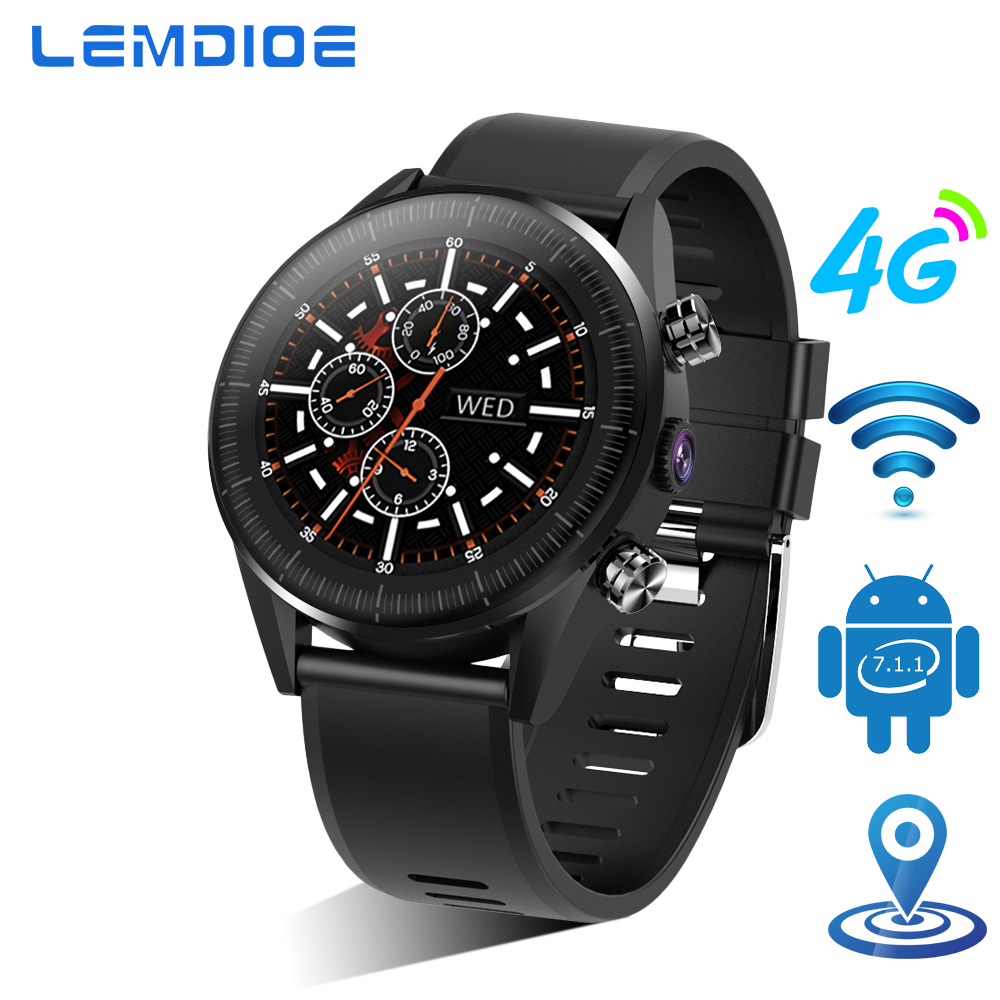 LEMDIOE 1GB 16GB 4G smart watch android 7 1 1 GPS WIFI with sim card 500W