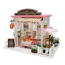 Diy Cottage Toy Building Model Doll House Furniture Diy 3D Wooden Miniature Dollhouse Toys Birthday Gifts for Child diy puzzle assembled villa provence cottage child handmade dollhouse model set combination boy girl birthday gift wj1010 ingbaby
