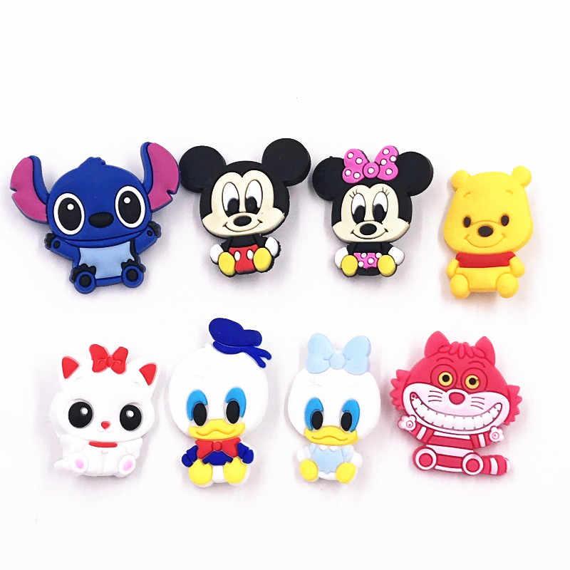 1 Pcs Hot Jual Mickey Minnie Ikon Lencana Hewan Gambar Kartun Pvc Lembut Bros untuk Dekorasi Di Ransel Pakaian Syal Hat
