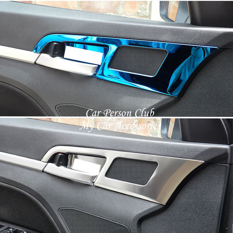For <font><b>Hyundai</b></font> Elantra 2016 2017 2018 Interior Door Bowl Cover Handle Frame Trims Stainless Steel Stickers Car-Styling Accessories image