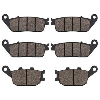 цена на Motorcycle Front and Rear Brake Pads FOR HONDA 599 CBR600 CBR 600 F3 CB600F Hornet CB 600F CBF 600 CBF600 CB750 CBF 1000 CBF1000