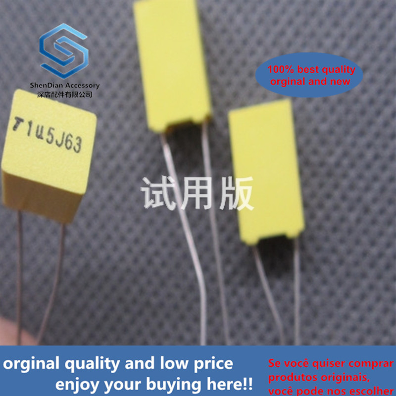20ppcs 100% Orginal New 63V1.5UF Correction Capacitor 63V155J 155J Film Capacitor Accuracy; 5%
