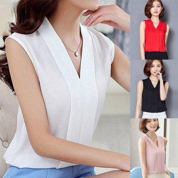 Neploe Korean Style Sleeveless Blouse Women Solid Color O-neck Basic Blouses Female Casual Fashion Summer Tops 2021 New #YL 10 1